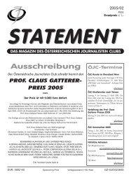 März 2005 - Österreichischer Journalisten Club