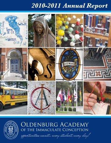 OA's 2010-2011 Annual Report - Oldenburg Academy