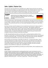 Safer, Lighter, Cleaner Cars - Europolitique
