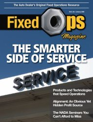 January 08: The Smarter Side of Service - Fixed Ops Magazine