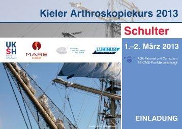 KAK_2013 Postkarte .indd - Kieler Arthroskopiekurs 2013