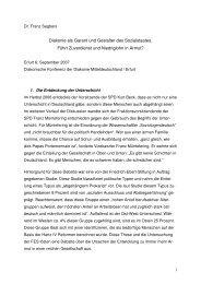 Referat Prof. Dr. Franz Segbers - Diakonie Mitteldeutschland