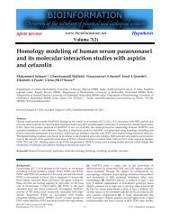 Homology modeling of human serum ... - Bioinformation
