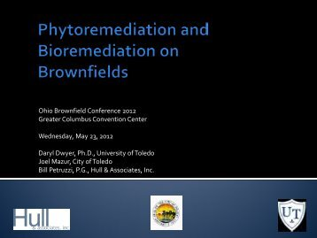 Phytoremediation may prevent the spread of ... - Ohio EPA