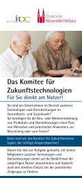 Flyer zur Auftragsforschung des Komitee für Zukunftstechnologien