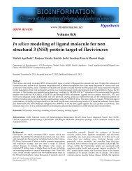 (NS3) protein target of flaviviruses - Bioinformation