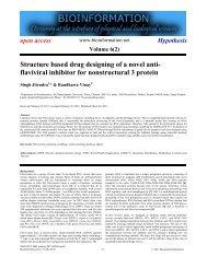 Structure based drug designing of a novel anti ... - Bioinformation