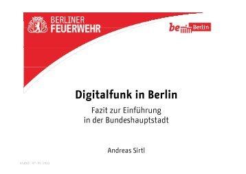 Digitalfunk in Berlin: Fazit und Einordnung der Einführung