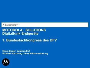 MOTOROLA SOLUTIONS Digitalfunk Endgeräte 1 ...