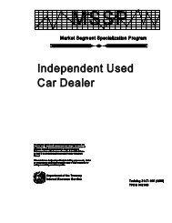 Independent Used Car Dealer