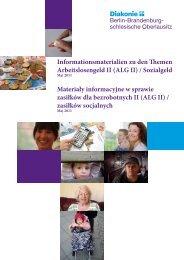 Informationsmaterialien zu den Themen Arbeitslosengeld II (ALG II ...