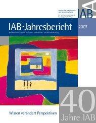 Forschungsbereich - Zum übergeordneten Verzeichnis - IAB