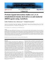 Protein-Ligand interaction studies on 2, 4, 6 ... - Bioinformation