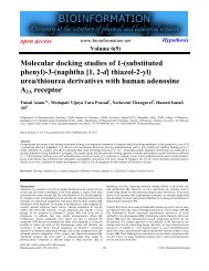Molecular docking studies of 1-(substituted phenyl ... - Bioinformation