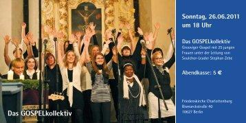 Menschen Gospel in der Friedenskirche
