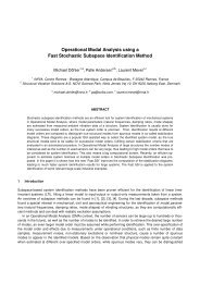 Operational Modal Analysis using a Fast Stochastic Subspace ...