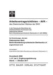 AVR - Diakonisches Werk Berlin-Brandenburg-schlesische ...
