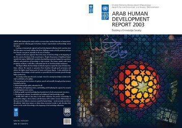 ARAB HUMAN DEVELOPMENT REPORT 2003