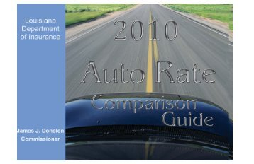 2010 Auto Rate Guide.indd - Louisiana Department of Insurance
