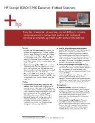 HP Scanjet 8350/8390 Document Flatbed Scanners - HP - Hewlett ...