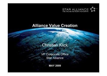 Alliance Value Creation Christian Klick - Star Alliance