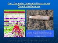 Beispiele für Georadarmessungen