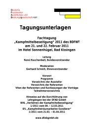 Tagungsunterlagen - Deutsche Feuerwerker Ausbildungs