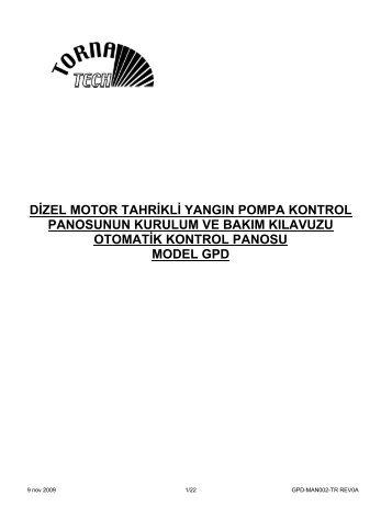 8. kontrol panosunun çalışma sırası - Tornatech