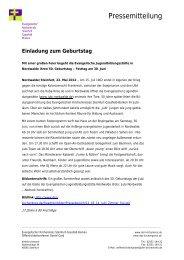 Einladung zum Geburtstag - Evangelischer Kirchenkreis Steinfurt ...