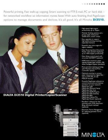 DiALTA Di3510 Digital Printer/Copier/Scanner ... - Copier Works