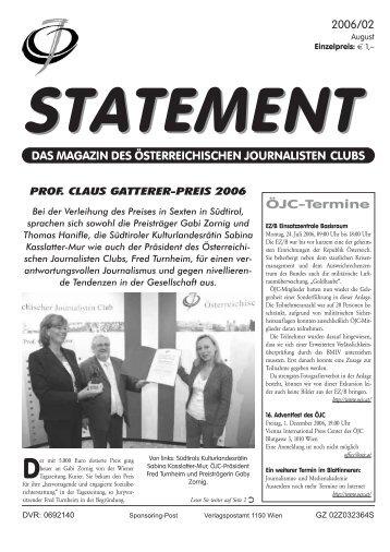 August 2006 - Österreichischer Journalisten Club