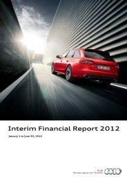 Interim Financial Report 2012 - Audi