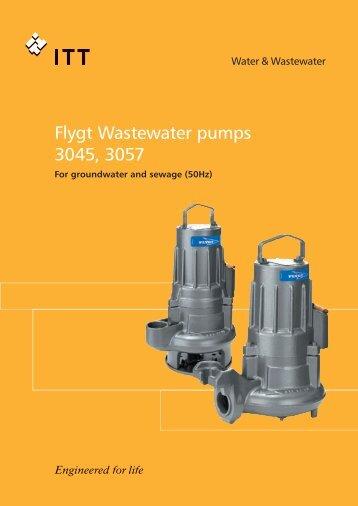Flygt Wastewater pumps 3045, 3057 - Anadolu Flygt