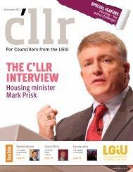 December 2012 edition of C'llr Magazine - LGiU