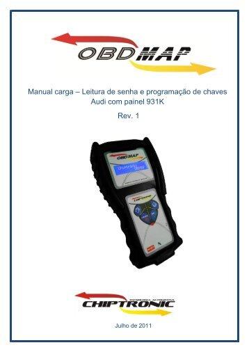 Manual carga – Leitura de senha e programação de ... - obdmap