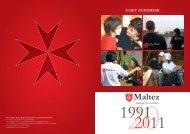 Caiet aniversar - Serviciul de Ajutor Maltez in Romania