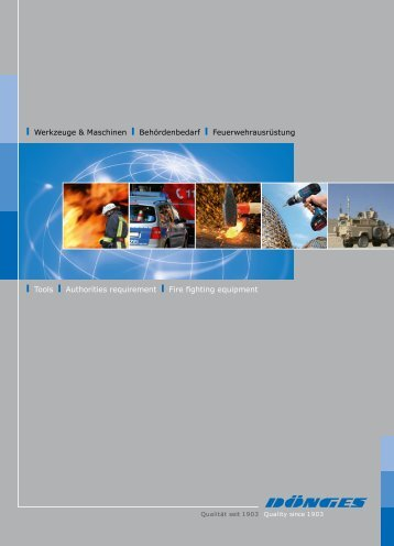 Imagebroschüre als PDF  - Dönges Systemlieferant