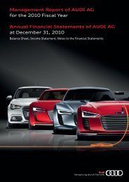 Annual Financial Statements Of AUDI AG