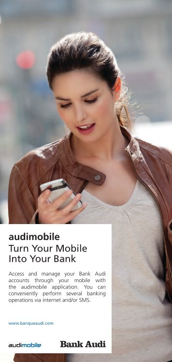 audimobile Turn Your Mobile Into Your Bank - Bank Audi