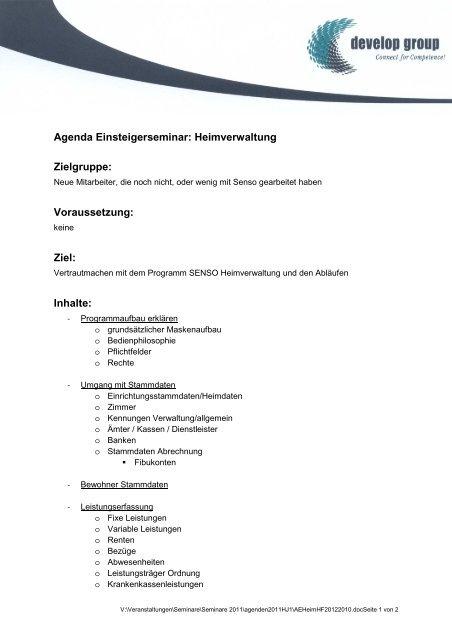 Inhalte - develop group