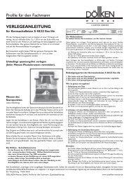 VERLEGEANLEITUNG Profile für den Fachmann - Döllken-Weimar