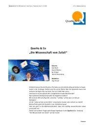 Quarks & Co   Die Wissenschaft vom Zufall - WDR.de