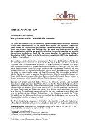 presseinformation - Döllken-Weimar