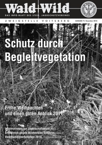 Wald+Wild 71-Dez.2010 Druck - Steirischer Jagdschutzverein