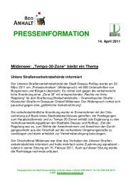 PRESSEINFORMATION 14. April 2011 Mildensee ... - Dessau-Roßlau