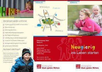 "Flyer ""Kindergarten Zum guten Hirten"" - Diakonie Varel"