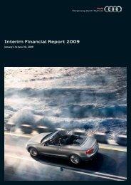 Interim Financial Report 2009 - Audi