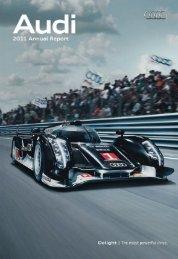 2011 Annual Report, Magazine Part (35 MB) - Audi