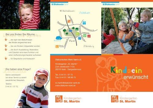 Flyer Kindergarten St.Martin - Diakonie Varel