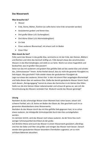 """Experiment Wasserwerk"" PDF, 36 KB - Diakonie Varel"